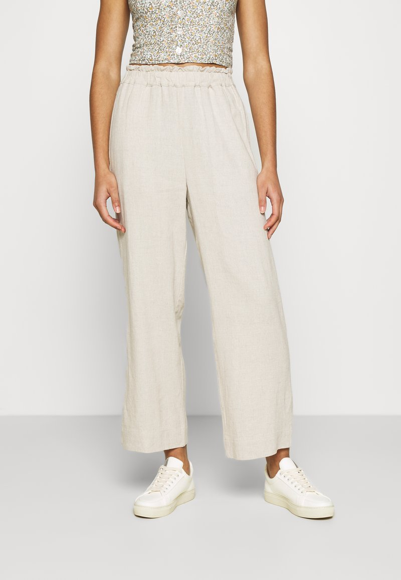 Abercrombie & Fitch - PULL ON - Trousers - flax