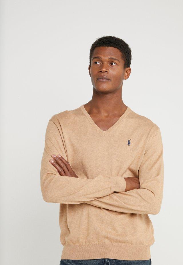 PIMA - Pullover - camel melange
