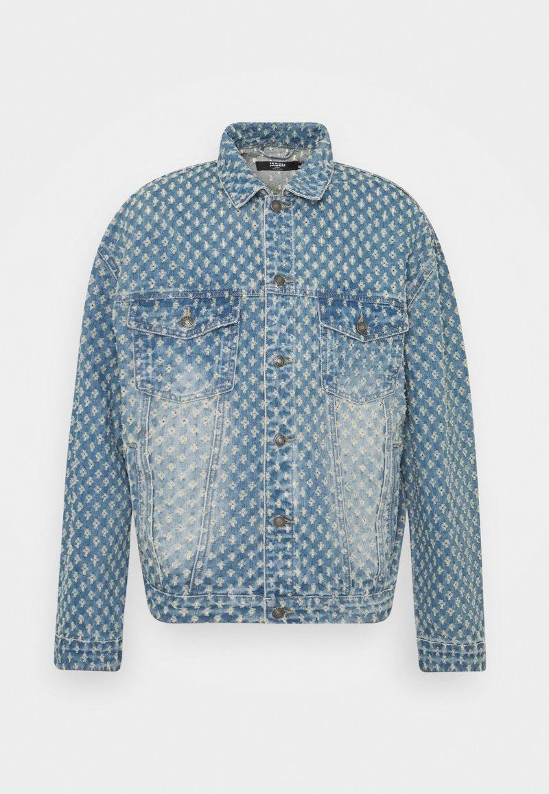Jaded London - PULLED JACKET - Džínová bunda - light blue