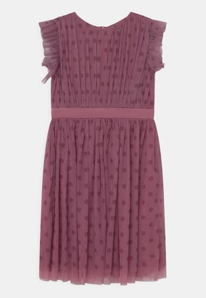 PRINTED DRESS WITH BOW BACK - Cocktailjurk - purple
