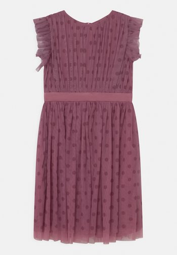 PRINTED DRESS WITH BOW BACK - Cocktail dress / Party dress - purple