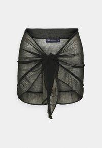 MINI FRILL SARONG - Beach accessory - black