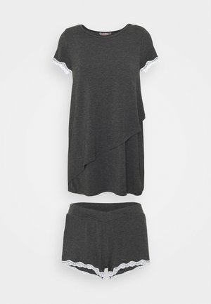 MATERNITY SHORT SET - Pyžamo - dark grey