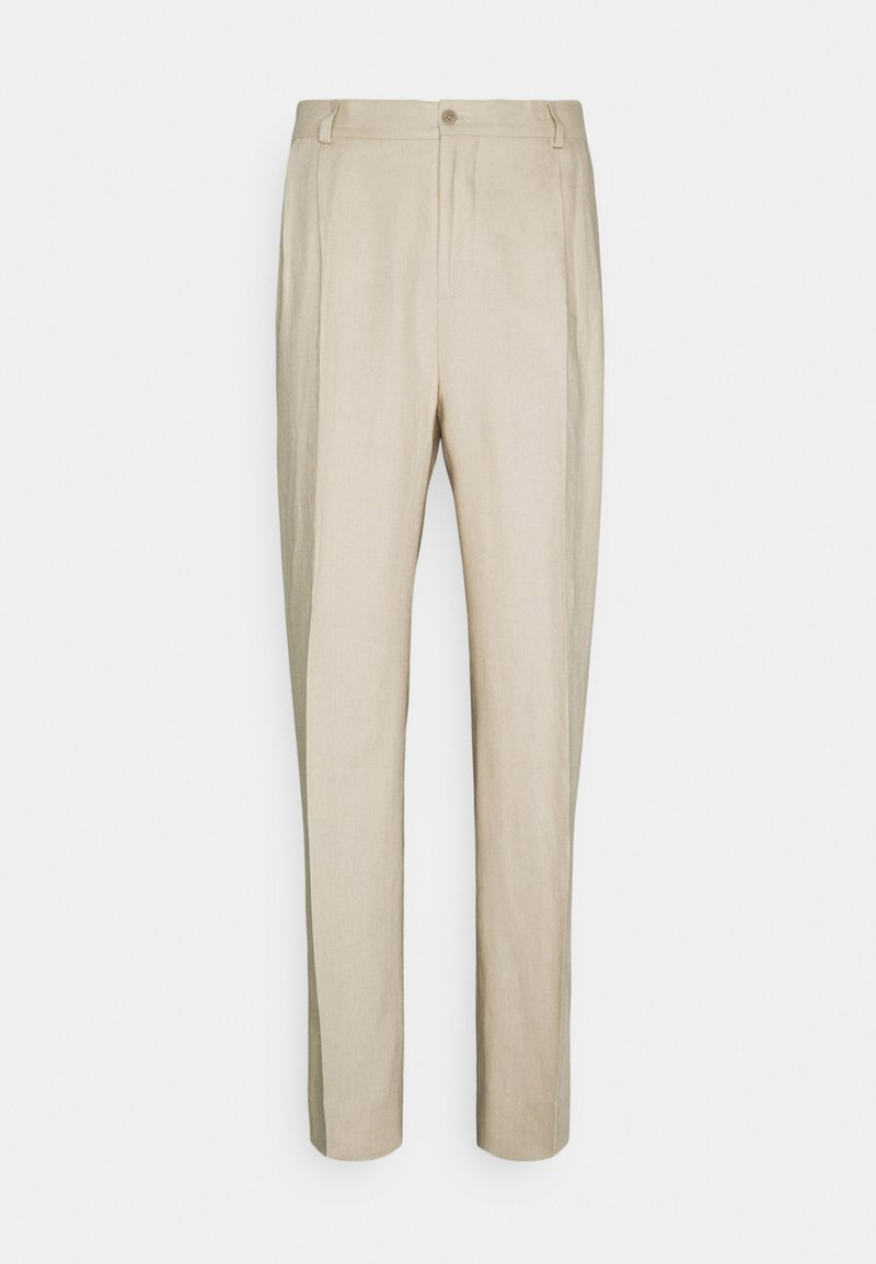 J.LINDEBERG - REMY TECH PLEATED PANTS - Suit trousers - sand grey