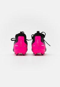Nike Performance - JR PHANTOM GT ACADEMY DYNAMIC FIT MG UNISEX - Moulded stud football boots - black/metallic silver/pink blast - 2