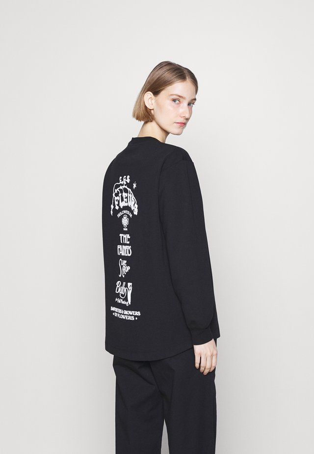 LURING PRINT - T-shirt à manches longues - black