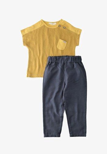 SET - Trousers - mustard yellow