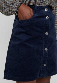 TOM TAILOR DENIM - A-line skirt - real navy blue - 4