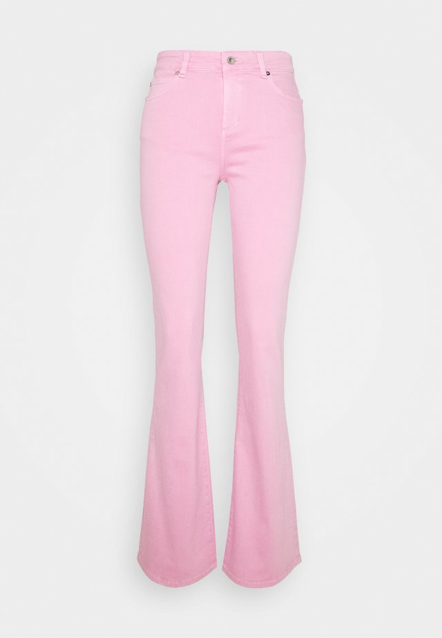 TARA  VINTAGE - Flared Jeans - bright rose
