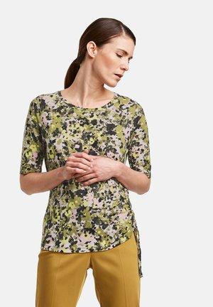 1/2 ARM - Print T-shirt - schilf olive druck