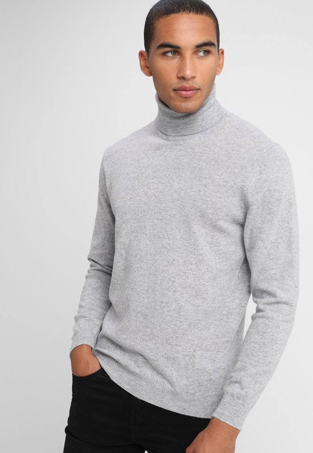 BASIC ROLL NECK - Strikpullover /Striktrøjer - light grey