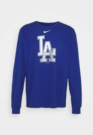 MLB LA DODGERS ANGLE LOGO LONG SLEEVE - Club wear - rush blue