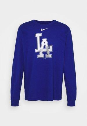 MLB LA DODGERS ANGLE LOGO LONG SLEEVE - Klubbkläder - rush blue