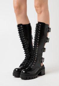 Jeffrey Campbell - TANK GIRL - Lace-up boots - black box - 0