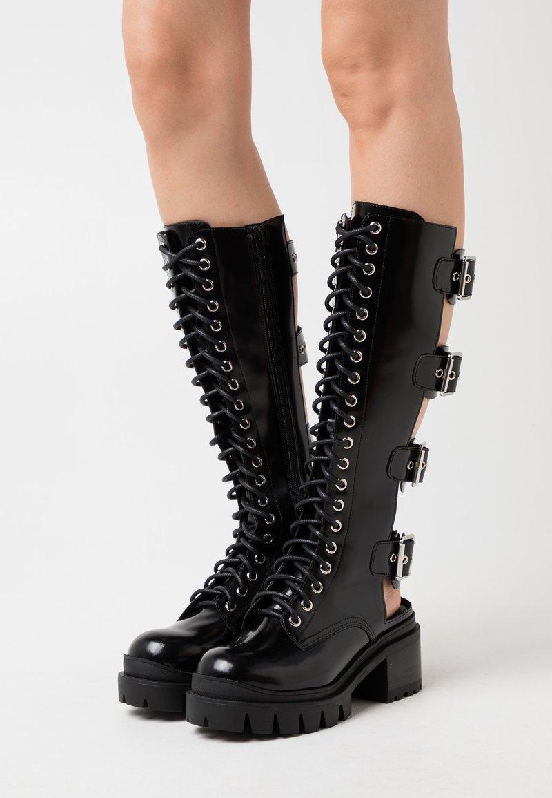 Jeffrey Campbell - TANK GIRL - Lace-up boots - black box