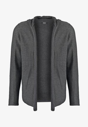 Strickjacke - mottled dark grey