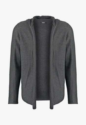 Strikjakke /Cardigans - mottled dark grey