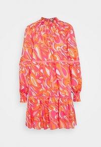 MICHAEL Michael Kors - GROOVY SWIRL MINI DRESS - Day dress - white multi - 0