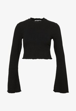 TRUMPET SLEEVE - Long sleeved top - black