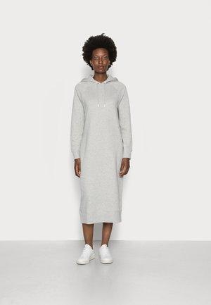 HOODED DRESS - Denní šaty - light grey melange