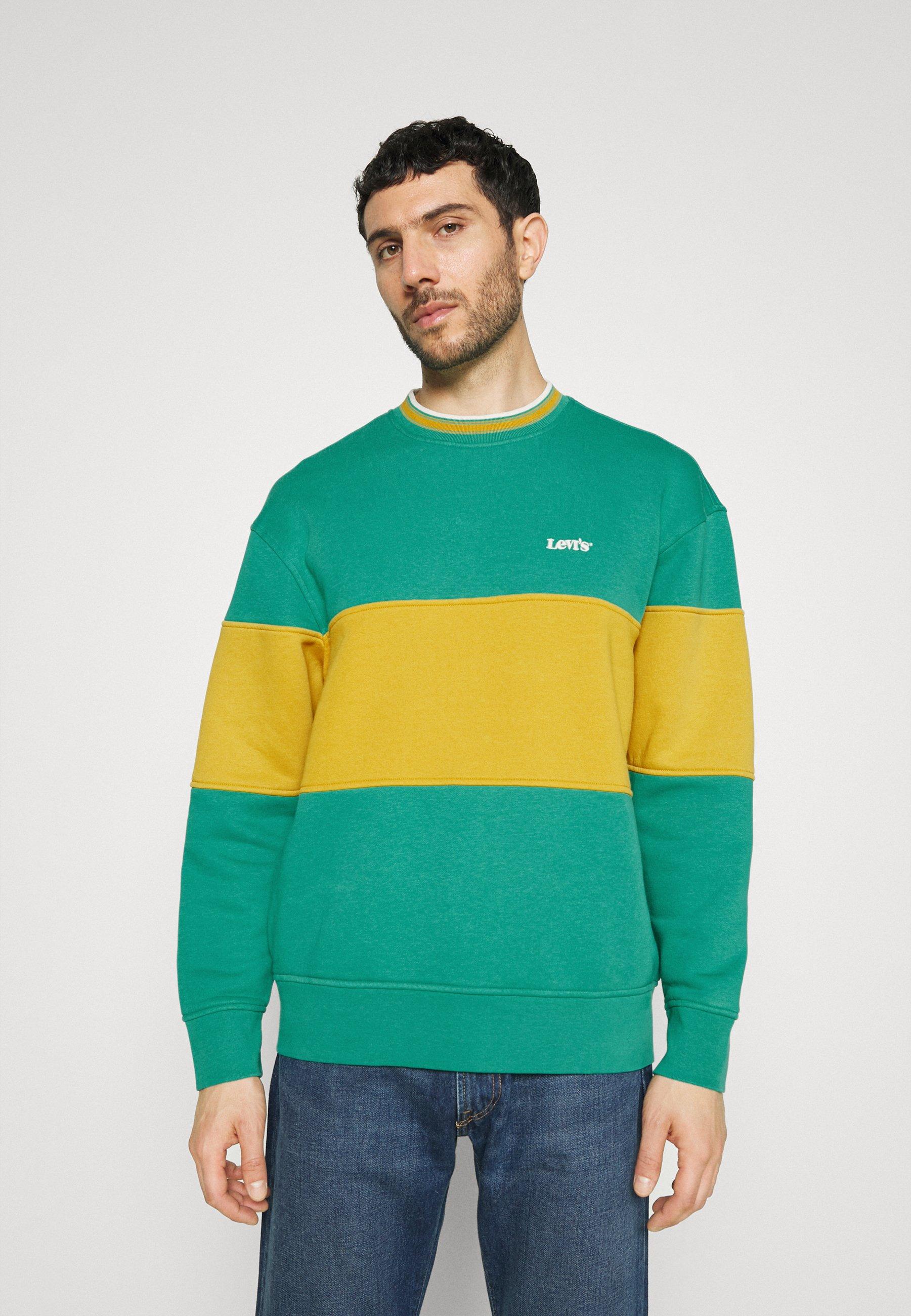 Men COLOR BLOCK TIPPED CREW - Sweatshirt
