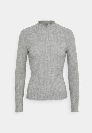 NMBERRY HIGH NECK - Jumper - medium grey melange