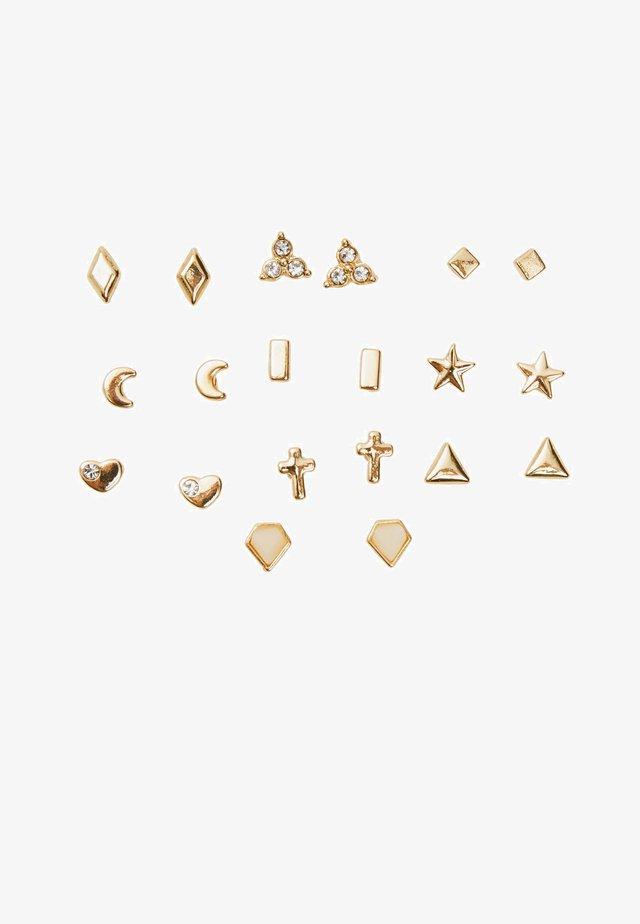 10ER-SET  - Náušnice - gold