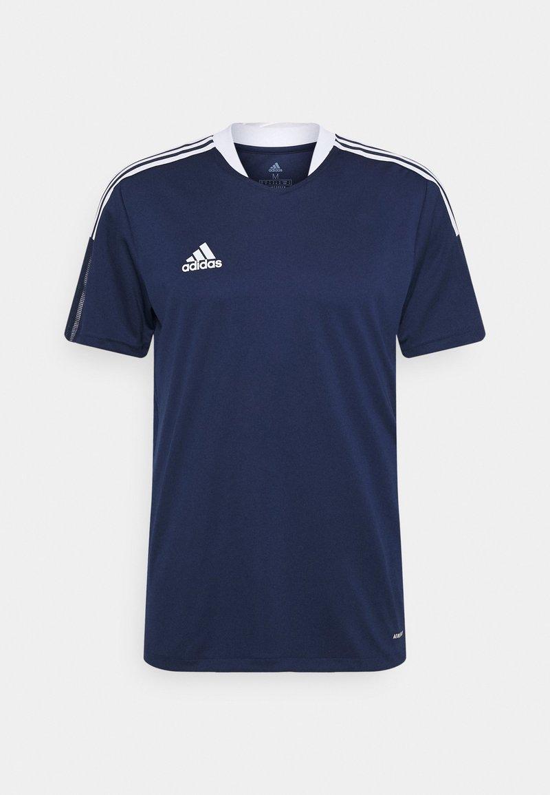 adidas Performance - TIRO 21 - T-shirt z nadrukiem - navy blue