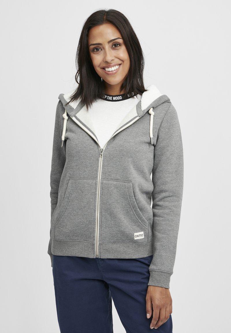 Oxmo - BINJA - Zip-up hoodie - grey melange