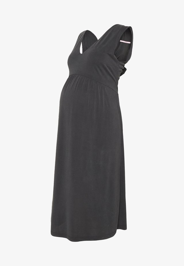 DRESS TOUCH - Robe en jersey - anthracite