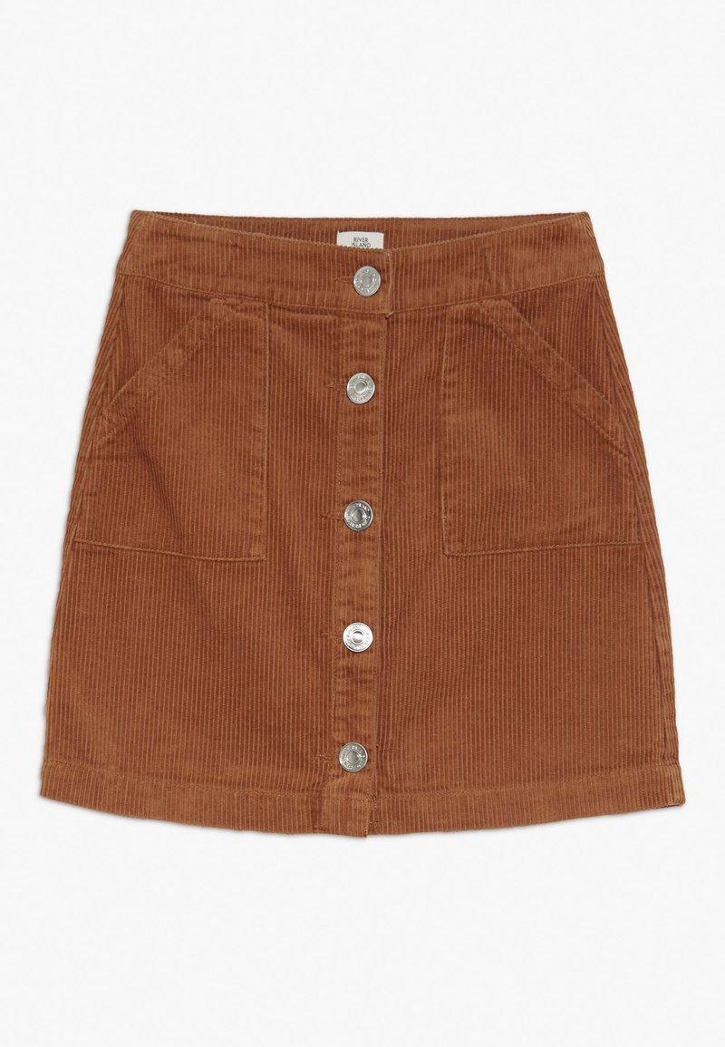 River Island - A-snit nederdel/ A-formede nederdele - light brown