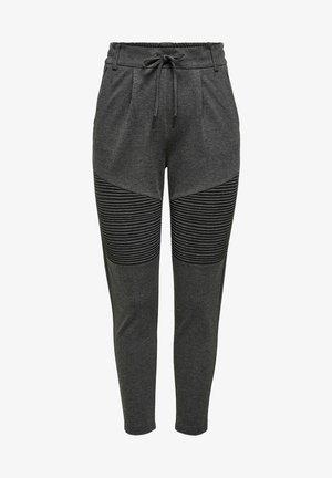ONLPOPTRASH EASY BIKER PANT - Tracksuit bottoms - dark grey melange