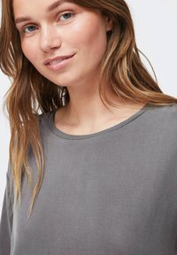 OYSHO - Basic T-shirt - dark grey - 4