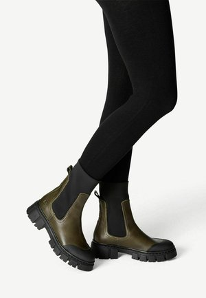 Ankle boots - olive comb
