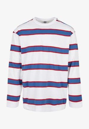 Långärmad tröja - white/sportyblue