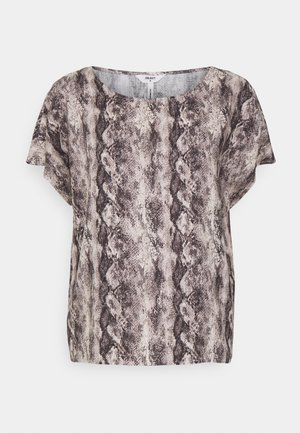 OBJHANNAH URBAN - Print T-shirt - sandshell