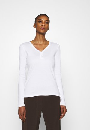HENLEY - Long sleeved top - white