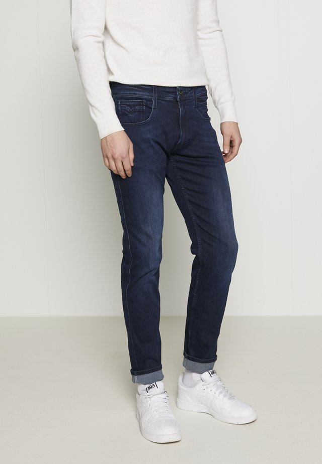ANBASS - Jeans slim fit - dark blue