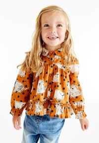 Next - Button-down blouse - orange - 0