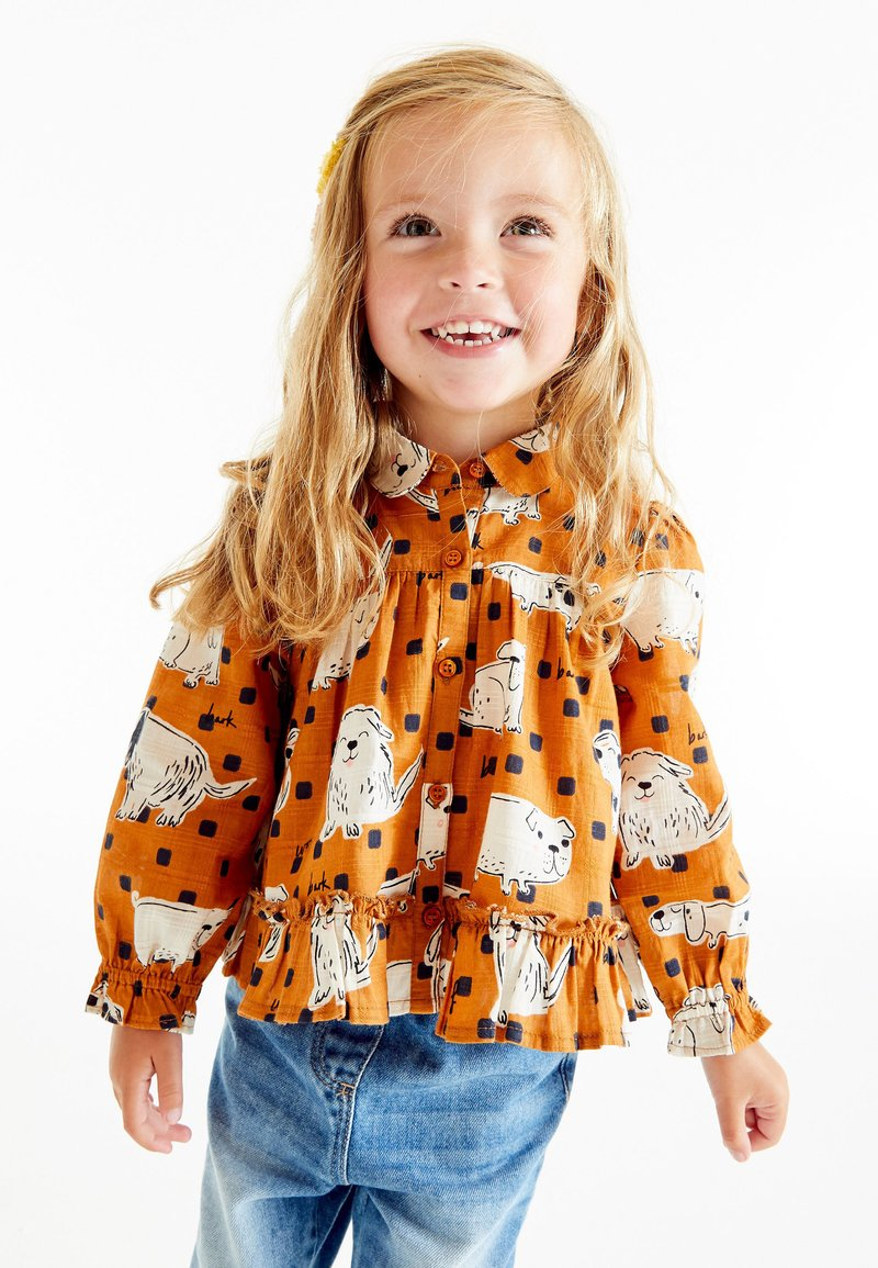 Next - Button-down blouse - orange