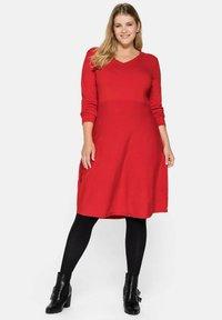 Sheego - Jumper dress - rot - 1