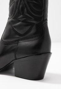 Bronx - JUKESON - Cowboy/biker ankle boot - black - 2