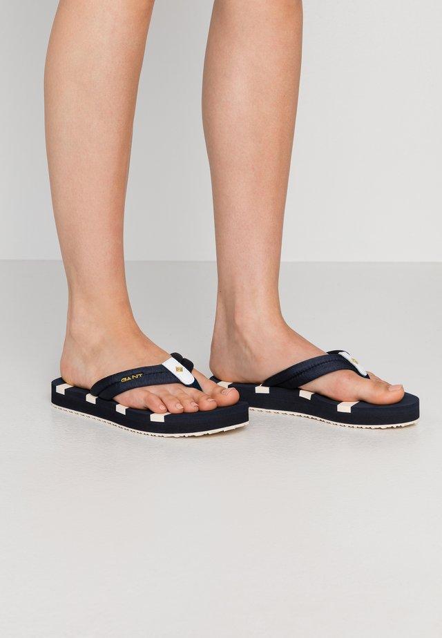 LEMON BEA - Sandalias de dedo - marine
