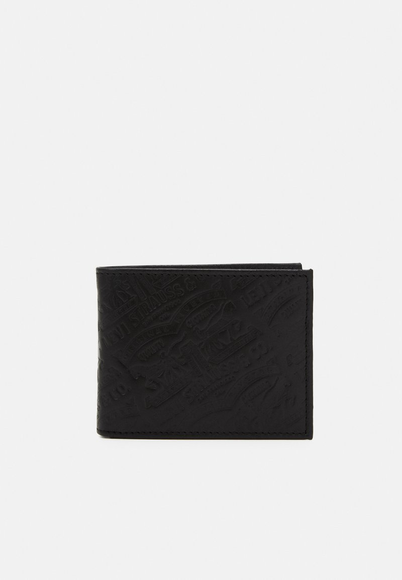 Levi's® - HORSE DEBOSSED BIFOLD UNISEX - Wallet - regular black