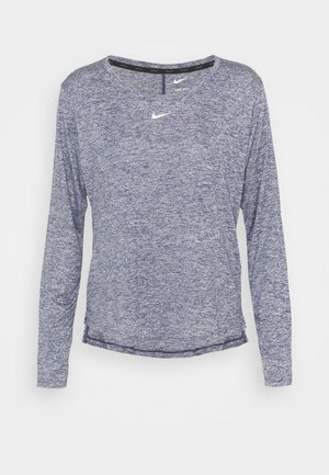 ONE - Long sleeved top - midnight navy heather/white