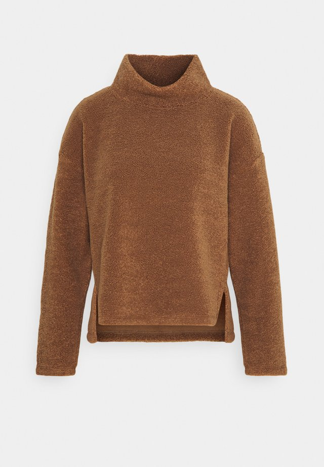 GABRI - Fleece jumper - peanut