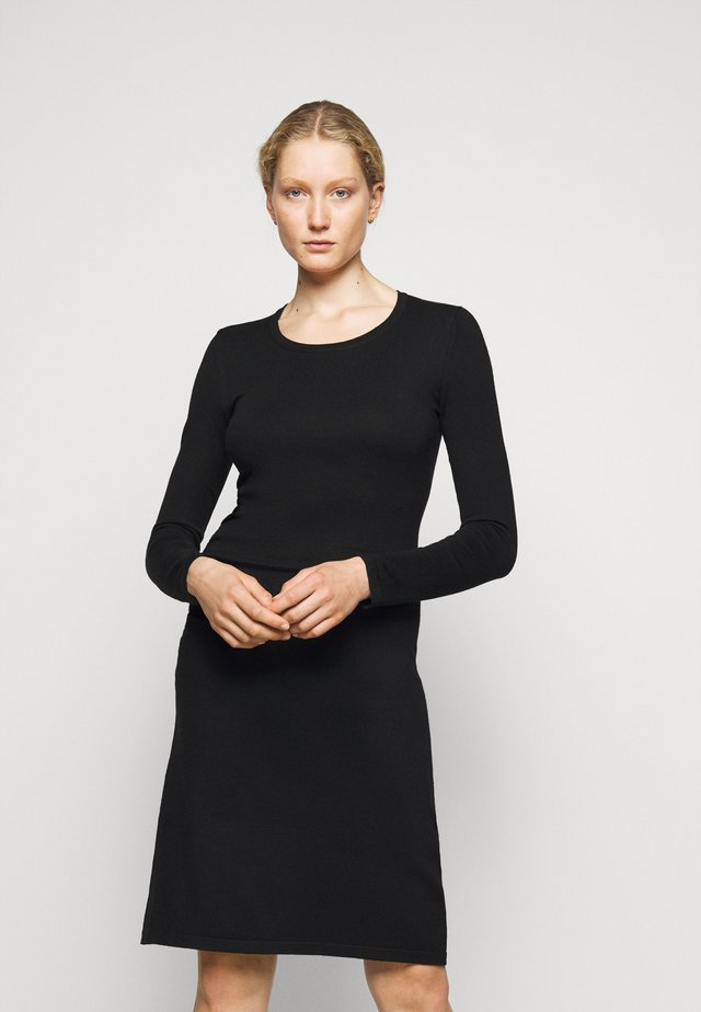 STRETCH DRESS SPECIAL - Strickkleid - black