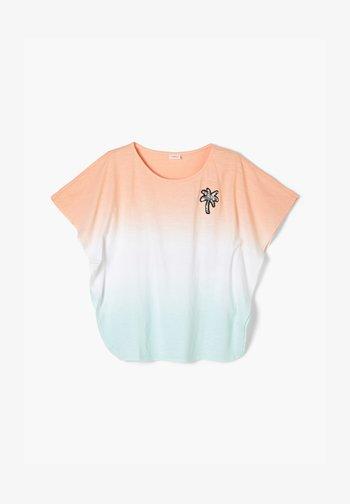 Print T-shirt - aqua gredient