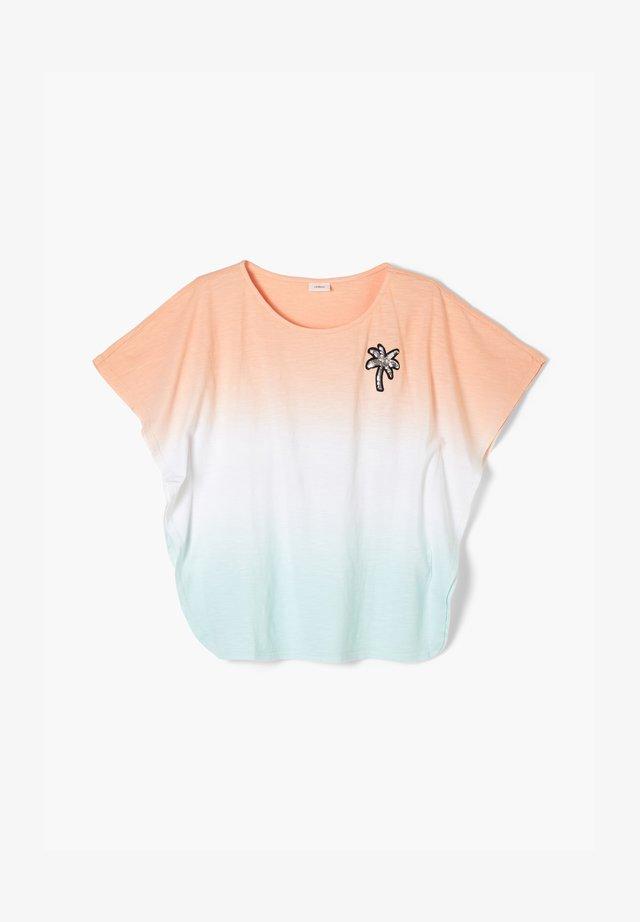 T-shirt print - aqua gredient