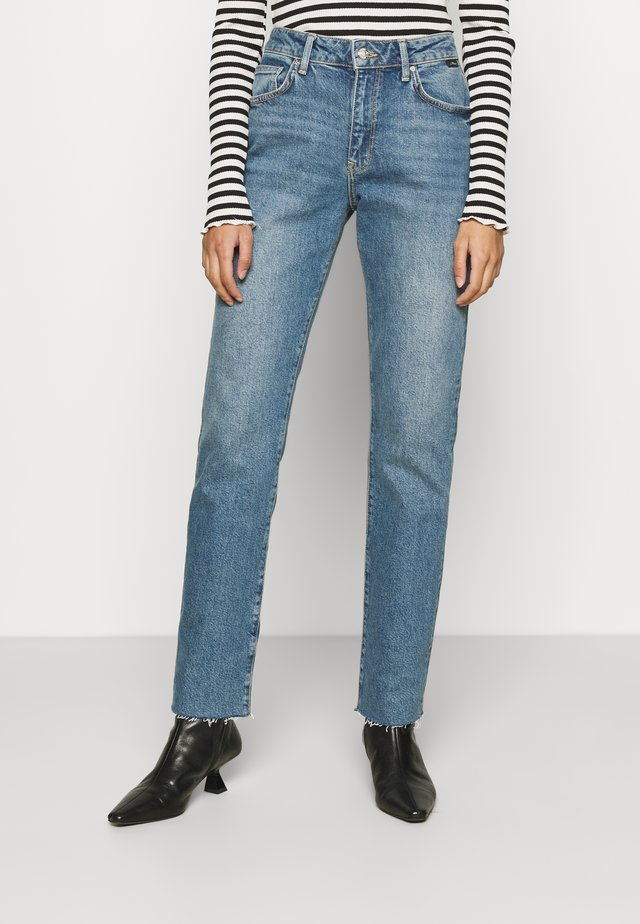 VIOLA - Jeans slim fit - shaded blue denim